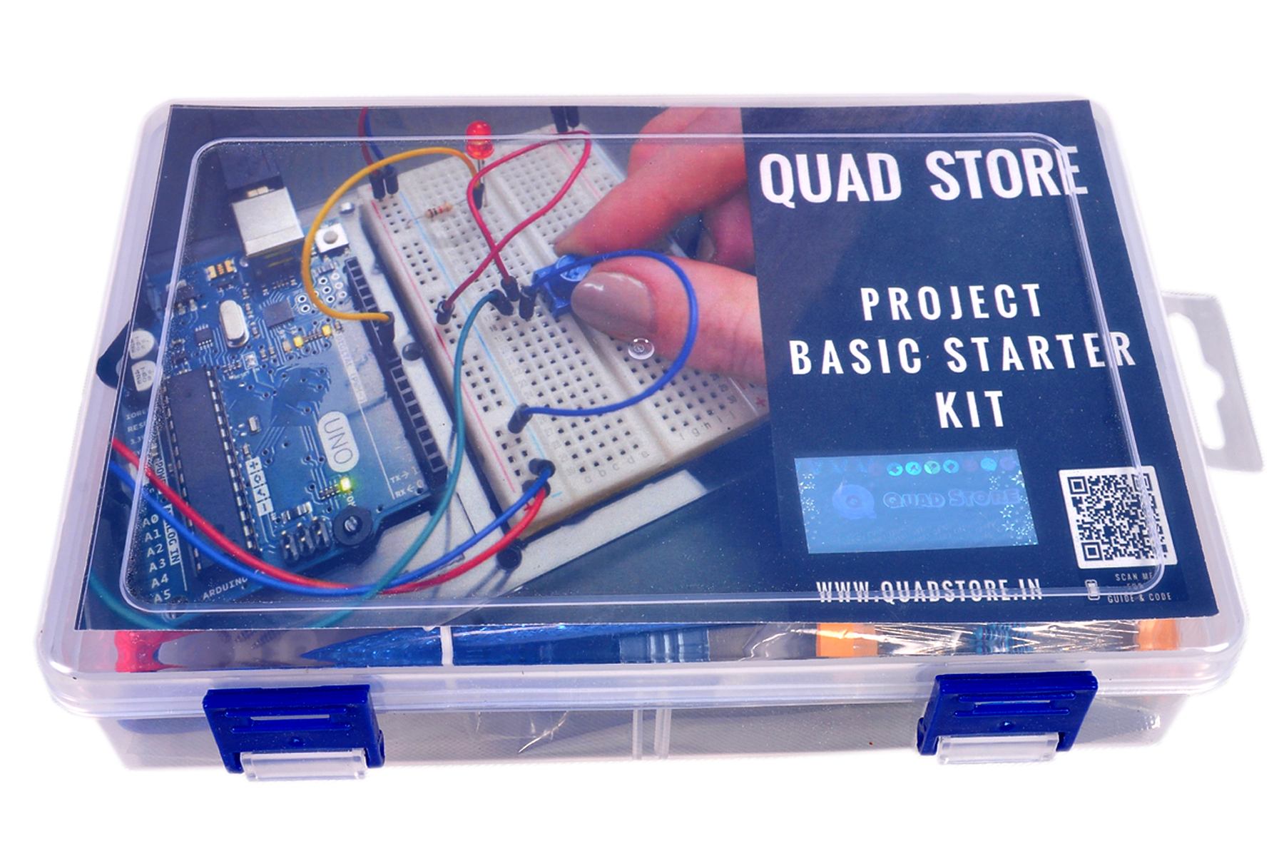 Quad Storetm Project Basic Starter Kit With Uno R3 For Arduino Electronic Circuit Kits India Previous