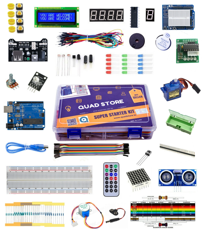 Super Starter Arduino Kit India Online With Uno R3 Beginners 13 Arduinokit